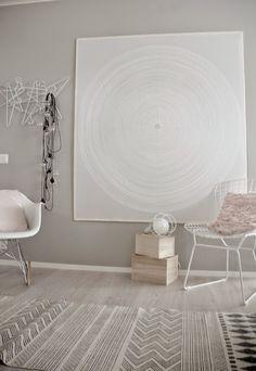 Marimekko Fokus Marimekko Fabric, Avengers Wallpaper, Wood Design, Pattern Wallpaper, Wall Lights, Sweet Home, Home And Garden, House Design, Living Room