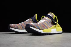 "573cf29d47ac5d Pharrell x adidas NMD Hu Trail ""Multicolor"" Noble Ink Bold Yellow-Footwear"