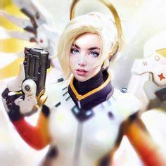 #Mercy #Fanart por Irakli Nadar  #overwatch #gaming #gamers #blizzard