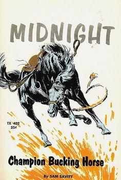 Midnight, Champion Bucking Horse (1957) by jl.incrowd, via Flickr