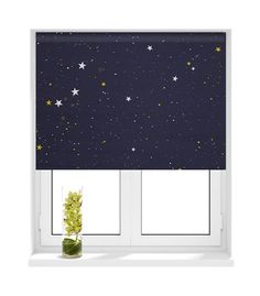 Sunlover Patterned Thermal Blackout Roller Blind Star