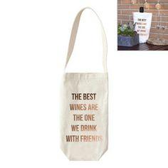 Sac à vin Wine  blanc et coloris cuivré  20 x 20 x 30 cm