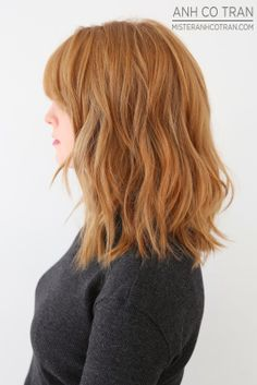 it's like a long-bob Like the messiness; it's like a long-bob Hairstyles Haircuts, Pretty Hairstyles, Clavicut, Medium Hair Styles, Short Hair Styles, Ginger Hair Color, Auburn Hair, Hair Affair, Great Hair