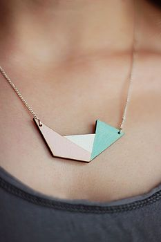 Geometric Irregular Shape Necklace http://www.notonthehighstreet.com/fawnandrose/product/geometric-irregular-shape-necklace