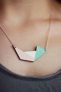 Geometric Irregular Shape Necklace http://www.notonthehighstreet.com/fawnandrose/product/geometric-irregular-shape-necklace