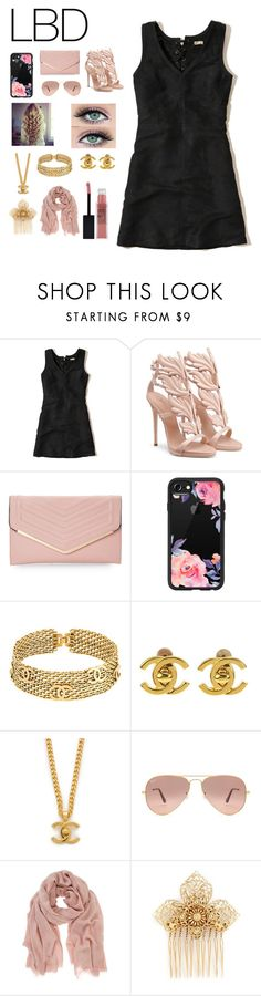 """""""LBD"""" by b-a-volland ❤ liked on Polyvore featuring Hollister Co., Sasha, Casetify, Chanel, Ray-Ban, Mint Velvet and Miriam Haskell"""