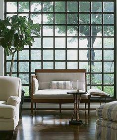 ventanal a cuadros pared completa