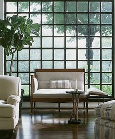 Juergen BLume-Werry: A grid of glass: lovely window/wall treatment