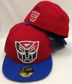 0161a50a3e088 New Era 59Fifty Transformers Optimus Prime Red   Blue Fitted Cap Superhero  Hats