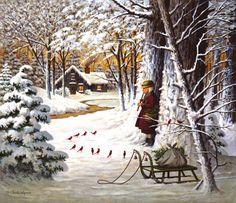 cardinal Christmas by Charles Wysocki
