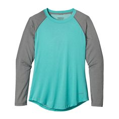 The Patagonia Women's Tropic Comfort Crew is a hot-weather women's fly fishing sun shirt with 50+ UPF sun protection and Polygiene® permanent odor control.