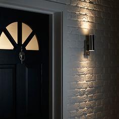 Buy John Lewis Olsen Up/Down Outdoor Wall Light, Black from our Garden & Outdoor Lighting range at John Lewis & Partners. Black Outdoor Wall Lights, Outdoor Wall Lighting, John Lewis, Outdoor Gardens, Sconces, Bulb, Conservatory, Spotlight, House