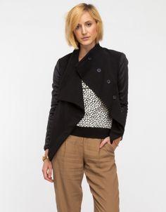 Need Supply Co. Leather-Sleeve Alpine Jacket