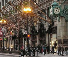 postcard-chicago-marshall-field-store-waiting-room-state ... |Beautiful Storefronts Chicago