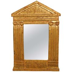 A Small Giltwood Mirror | From a unique collection of antique and modern wall mirrors at https://www.1stdibs.com/furniture/mirrors/wall-mirrors/