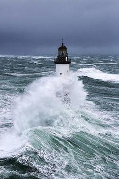 Print of Rough seas at dAr-Men lighthouse during Storm Ruth, Ile de Sein, Armorique Lighthouse Storm, Lighthouse Photos, Lighthouse Painting, Ocean Projects, Sea Storm, Rough Seas, Library Images, Nature Pictures, Photographic Prints