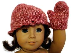 Hat and Mittens Set Dark Pink American Girl by PreciousBowtique, $7.00