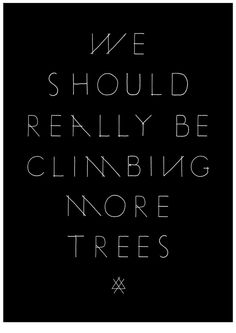 Yes! <3 tree climbing!