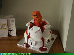 OK. That's pretty awesome. I would love that as a cake at some point in my sad, nerdy life. LOL.