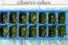 Freeze herbs in ice cube trays before they go bad, then pop into sauces and soups when you need them