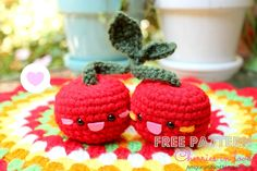Crochetadas: Cerezas amigurumi: buena idea para llaveros