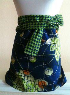 apron finished blue