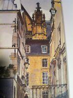 RUE SAINT-BON  • PARIS Watercolor Print • Print Pierre Deux style Country French