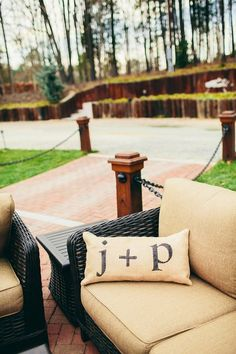 Custom Burlap Wedding Pillows  Full post at www.orangerieevents.com/blog / Photography by perryvaile.com