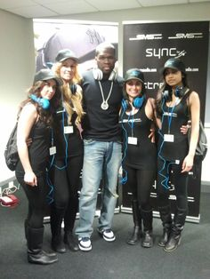 50 Cent and members of the SMS Audio team at Gadget Show Live 2012: UK     http://smsaudio.com