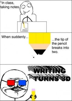 In Class Taking Notes - True Story - Posted in Funny, Troll comics and LOL Images - Trollics