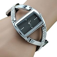 Womens Crystal Analog Quartz Bracelet Wrist Watch Black -- Find out more about the great product at the image link.(This is an Amazon affiliate link and I receive a commission for the sales)