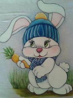 Happy Easter Sunday, Bunny Images, Basic Painting, Cute Cartoon Animals, Art Drawings For Kids, Wallpaper Iphone Cute, Tole Painting, Easter Crafts, Baby Quilts
