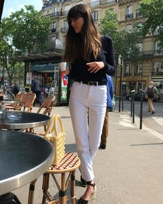 Want to Get French-Girl Style? French Girl Style, French Girls, French Chic, Parisienne Chic, Estilo Gamine, Gamine Style, Girl Fashion, Fashion Outfits, Style Fashion