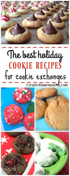 The best Christmas cookie recipes to use for holiday and Christmas cookie exchanges.