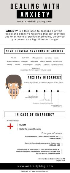 Dealing with Anxiety Design by Pink Studios www.pinkstudios.net