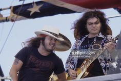 Ronnie Van Zant and Gary Rossington of Lynyrd Skynyrd perform live at... News Photo | Getty Images