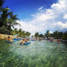 Kids and adults alike love the Lazy River & Rapids at Atlantis Resort's water park!
