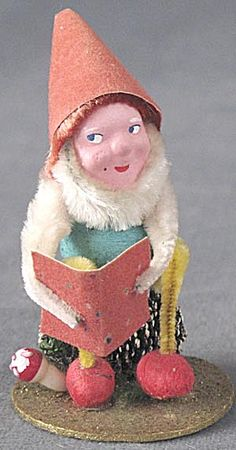 Vintage Pine Cone Elf Christmas Figurine. Click on the image for more information.