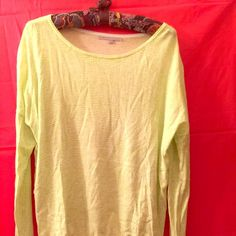 Gap Top Lightweight sweater-like, Gap, roomy top. Size Large. Third photo shows actual photo. Would fit a M to L person. This is a full size & roomy on me. GAP Sweaters Crew & Scoop Necks
