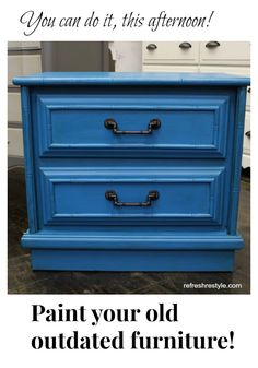 DIY tutorial how to refresh your old furniture and give Faux Bamboo look to it