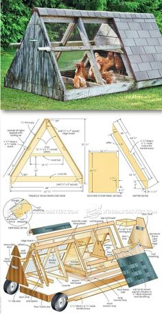 Rollling Chiken Coop Plans - Outdoor Plans and Projects | WoodArchivist.com