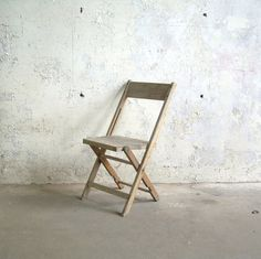 Vintage Weathered Wood Folding Chair by TheArtifactoryStudio, $45.00