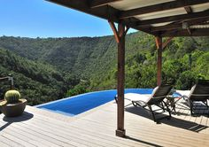 Surrounded by national park land with exceptional views over Kaaimans river gorge. Investment Property, Property For Sale, Wilderness South Africa, One With Nature, Wooden Decks, Open Plan Living, Nice View, Beautiful Homes, Pergola
