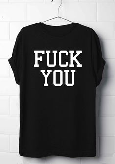 Fu**k You T-Shirt, Grunge punk T-Shirt, Rock Shirt
