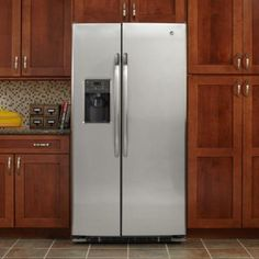 GE 25.9 cu. ft. Side by Side Refrigerator in Stainless Steel-GSHS6HGDSS at The Home Depot