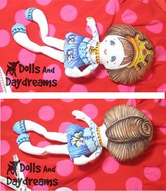 Pocket Princess Doll Hand Painted Fabric Markers Crayola 2 by Dolls And Daydreams, via Flickr