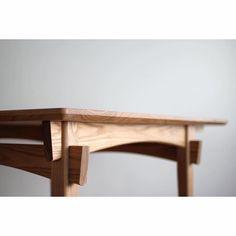 table top with small radius corners and an acute angle bottom bevel