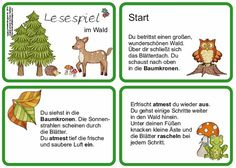 "In der Klasse sind wir noch immer mit dem Thema ""Wald"" beschäftigt. - In der Klasse sind wir noch immer mit dem Thema « Wald Credit Card Application, Montessori Education, Science Activities, Pre School, School Tips, Education Quotes, Science Nature, Kids Learning, Literacy"