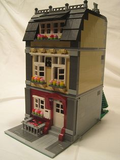 lego Red and Tan House by paostmo @ Flickr