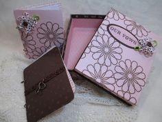 Wedding Vow Book Set  Pink and Chocolate by TheMemoryKeeperShop, $34.95